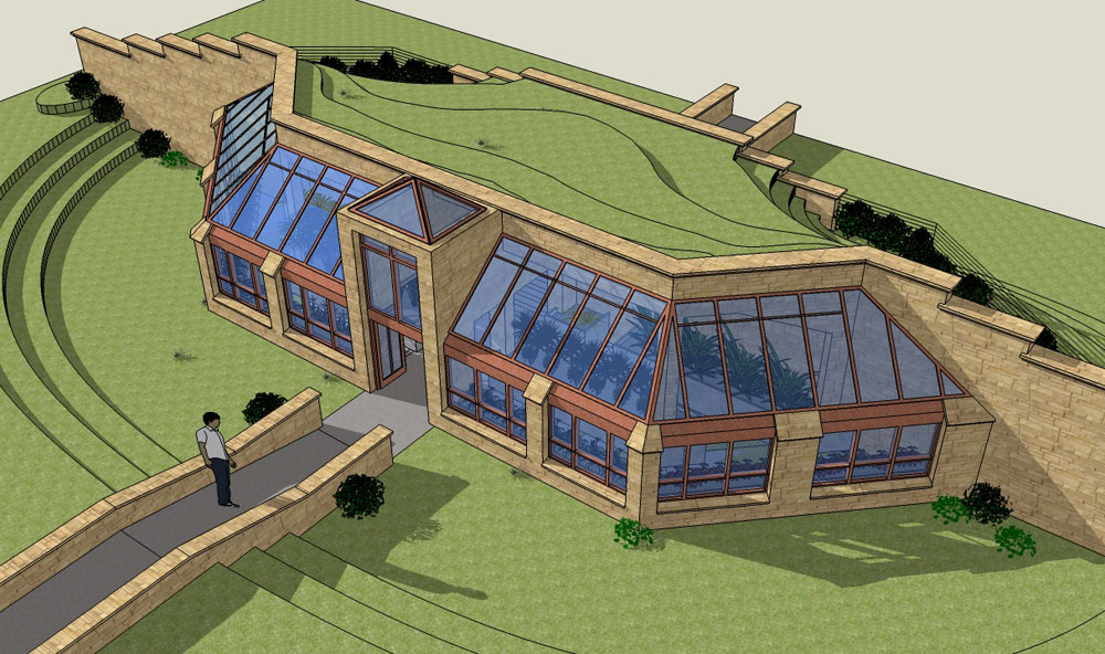 Deep green architecture creative passive solar for Earth sheltered home designs