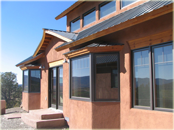 overhangs on passive solar house in southwest Colorado