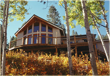 alternative direct gain passive solar mountain style house at 9000' elevation