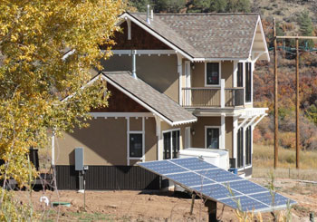 shading devices to prevent summer overheating on passive solar residence